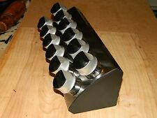 Trudeau Wedge 12 Bottle Spice Rack with Pour or Sprinkle Cap