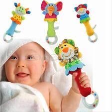 Developmental Animal Plush Toy Baby Kids Infant Handbells Bed Bell Soft Rattle