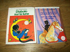 LOT 2 LIVRES BIBLIOTHEQUE ROSE DIABOLO Paul-Jacques BONZON