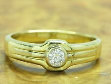18kt 750 GOLD RING MIT 0,20ct BRILLANT BESATZ / BRILLANTRING