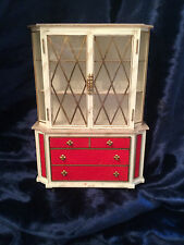VINTAGE IDEAL PETITE PRINCESS TREASURE TROVE CHEST DISPLAY CABINET