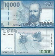 Chile 10000 Pesos P 164 New Date 2013 UNC Low Shipping! Combine FREE! 10,000