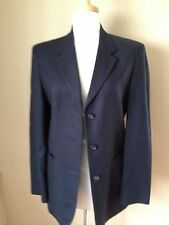 United Colors of Benetton Made in Italy Blazer Size 42 USA 8 100% Wool Navy Blue