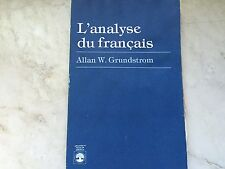 L'analyse du française by Allan W. Grundstrom (paperback) store#5594