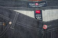 Ecko Unltd Mens Blue  Jeans 40 x 33 Urban Straight Leg Cotton Zip Fly Hip Hop