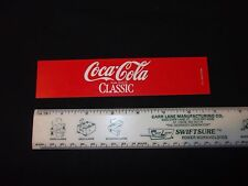 Coca Cola Classic Coke Cooler Button Tag Machine Label Vintage Long Cooler New