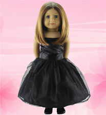 """cute!  sale Doll Clothes fits 18"""" American Girl Handmade Party Black Dress b27"""