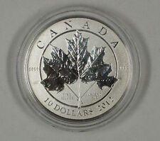 2012 $10 Canada 1/2 Troy Oz .9999 Fine Silver Maple