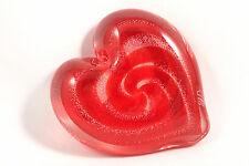 Blown Dichroic Art Paperweight Scarlet Red Hearts of Fire Glass Eye Studio GES
