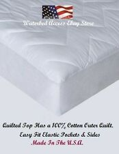California King Cotton Mattress Pad for King Hardside Waterbed Mattress 72x84