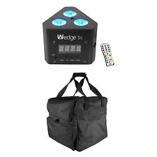 Chauvet DJ Wedge Tri RGB LED DMX Wash Light Effect with Remote + Transport Case