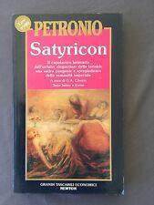 SATYRICON - PETRONIO italiano latino - satira pungente della romanitá imperiale