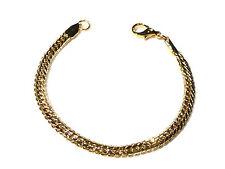 Bijou alliage doré  bracelet intemporel maille anglaise ciselée 5,4 mm bangle