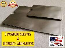 10 + 3 Passport Latest RFID Blocking Travel Holder Debit Credit Card Sleeves 1