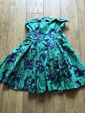 Primark Navy And Green Strapless ChristMas Prom Dress Size 16