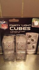 Pittsburgh Steelers Party Light Cubes 4 Light Up Ice Cube Set NFL Free Shipping