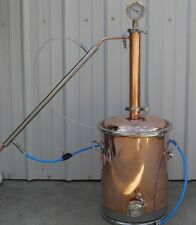 "8 Gallon Copper Moonshine Still w/2"" Copper & Stainless Whisky Column & cooling"