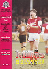 ROTHERHAM UNITED v HUDDERSFIELD TOWN  94-95 LEAGUE MATCH