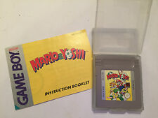 NINTENDO GAMEBOY GAME BOY GB GAME CARTRIDGE +INSTRUCTIONS SUPER MARIO & YOSHI