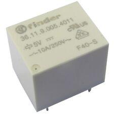 Finder 36.11.9.005.4011 Relais 5V DC 1xUM 10A 70R 250V AC Relay Print 855033