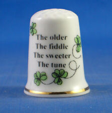 Birchcroft Thimble - Irish Sayings -- The Older the Fiddle  -- Free Dome Box