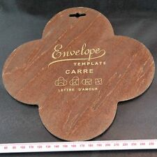 Carre Love Letter (Lettre D'Amour) Envelope Wooden Template