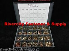 Grade 8 Nuts, Bolts & washers assortment kit 575 Pieces Zinc plated Ships 4 Free
