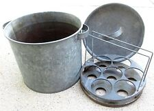 Canner Vintage Water Bath Steamer Cooker Antique Large 27 Quart Galvanized Pot