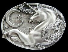 UNICORN BELT BUCKLE W/MOON AND STARS NEW!