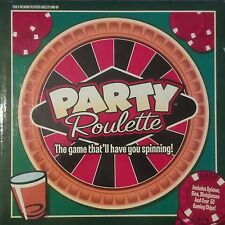 Party Roulette Drinking Game With Spinner, Shotglasses, Dice & Gaming Chips NEW!