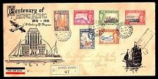 Hong Kong KGVI 1941 Centenary Set on Illustrated First Day Cover to Bombay