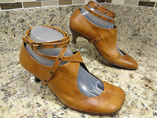 **CUTE** TN 29 TRACEY NEULS SHOES WOMEN 37/7  M BROWN MARY JANES LEATHER cidwoq