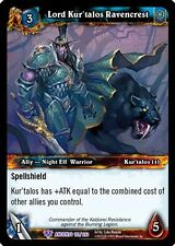 WORLD OF WARCRAFT WOW TCG WAR OF ANCIENTS : LORD KUR'TALOS RAVENCREST X 4