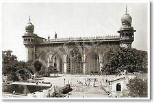 Mecca Masjid in Hyderabad India 1880 - NEW Vintage Reprint POSTER