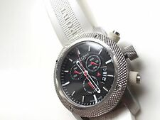 Burberry Sport Watch White Rubber Chronograph BU7707