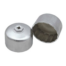 Auto 16P/86mm Aluminum Style Oil Filter Wrench Filter Housing Cap For BMW Volvo