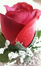 Rose Boutonniere*Corsage Red *Groom*Prom*Quinceanera