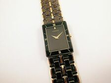 Lassale by Seiko Black & Gold Tone Stainless 7N00-5350 Sample Watch NON-WORKING