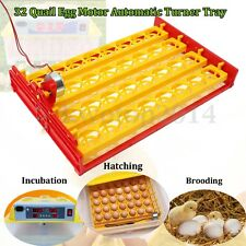 32 Eggs Automatic Incubator Hatch Chicken Bird Quail Poultry Motor Turner Tray