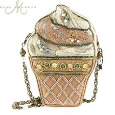 Mary Frances Handbag The Scoop Beaded Jewel Pink Crm Ice Cream Cone Shoulder Bag