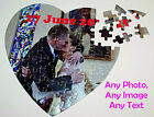 Personalised Photo Jigsaw heart puzzle,Add you own Text Image Photo,Special Gift