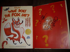 Ylvis Bard & Vegard Ylvisaker signed What Does The Fox Say? 1st print HC book
