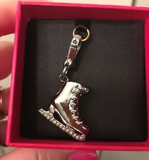NWT, JUICY COUTURE SILVER, PAVE ICE SKATE CHARM, #YJRUOC67