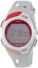 Casio STR300-7 Ladies 60 Lap Memory White Pink Running Watch 10 Year Battery