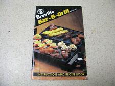 breville BAR-B-GRILL model HG-2 instruction & recipe