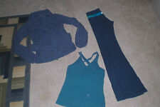 Lot of Lululemon Luon Groove Pants, Wrap and Tank Top sz 2