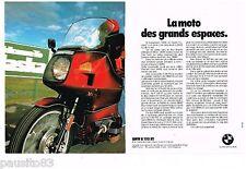 PUBLICITE ADVERTISING 105  1979   BMW  moto R 100 RT  ( 2p)