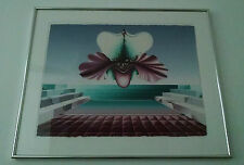 Stunning Original Vintage Surrealist Painting or Print in Style of Dali and Kush