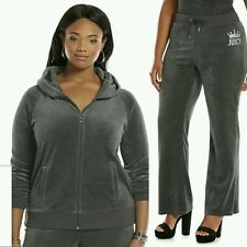 JUICY COUTURE XXXL Embellished Velour GRAY Tracksuit (Womens PLUS Size 3X) NWT