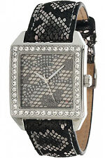 GUESS U0050L1,Lady Glamour,Silver Color Case,Python-Print Dial And Strap,30m WR